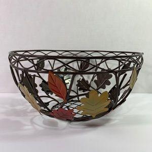 Metal Leaf Basket